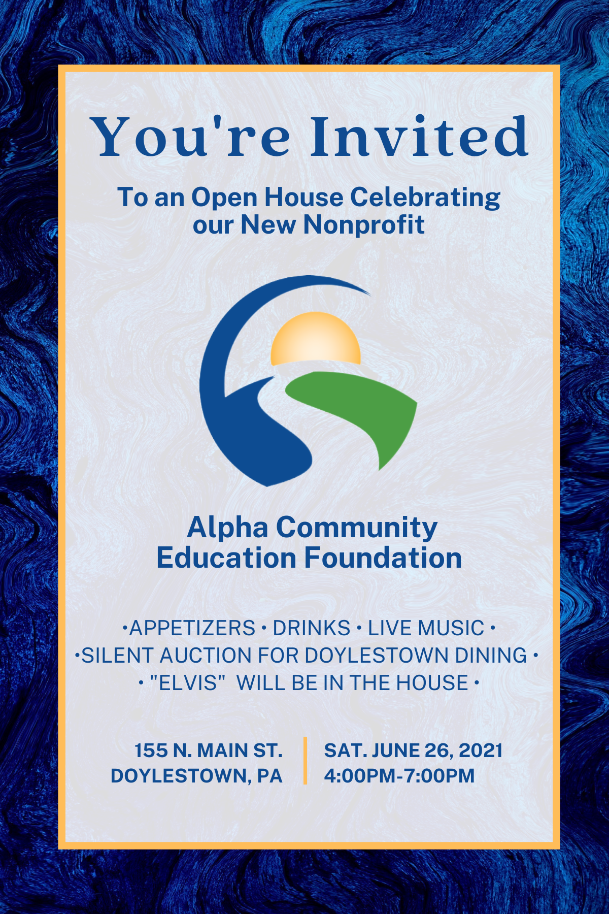 you're invited to our open house celebrating our new nonproft